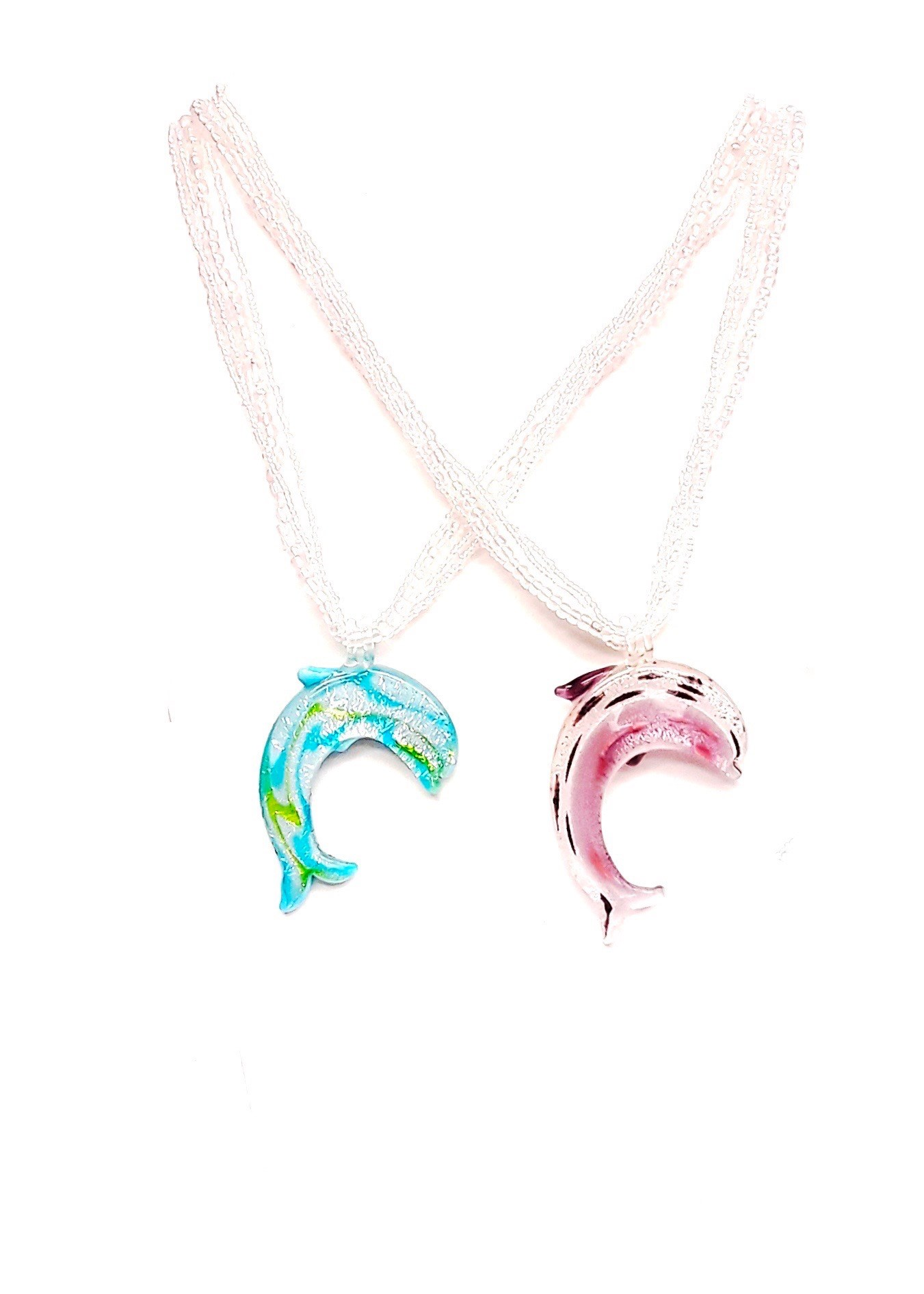 "Asst.Dolphin Necklace 18""-21"" L"