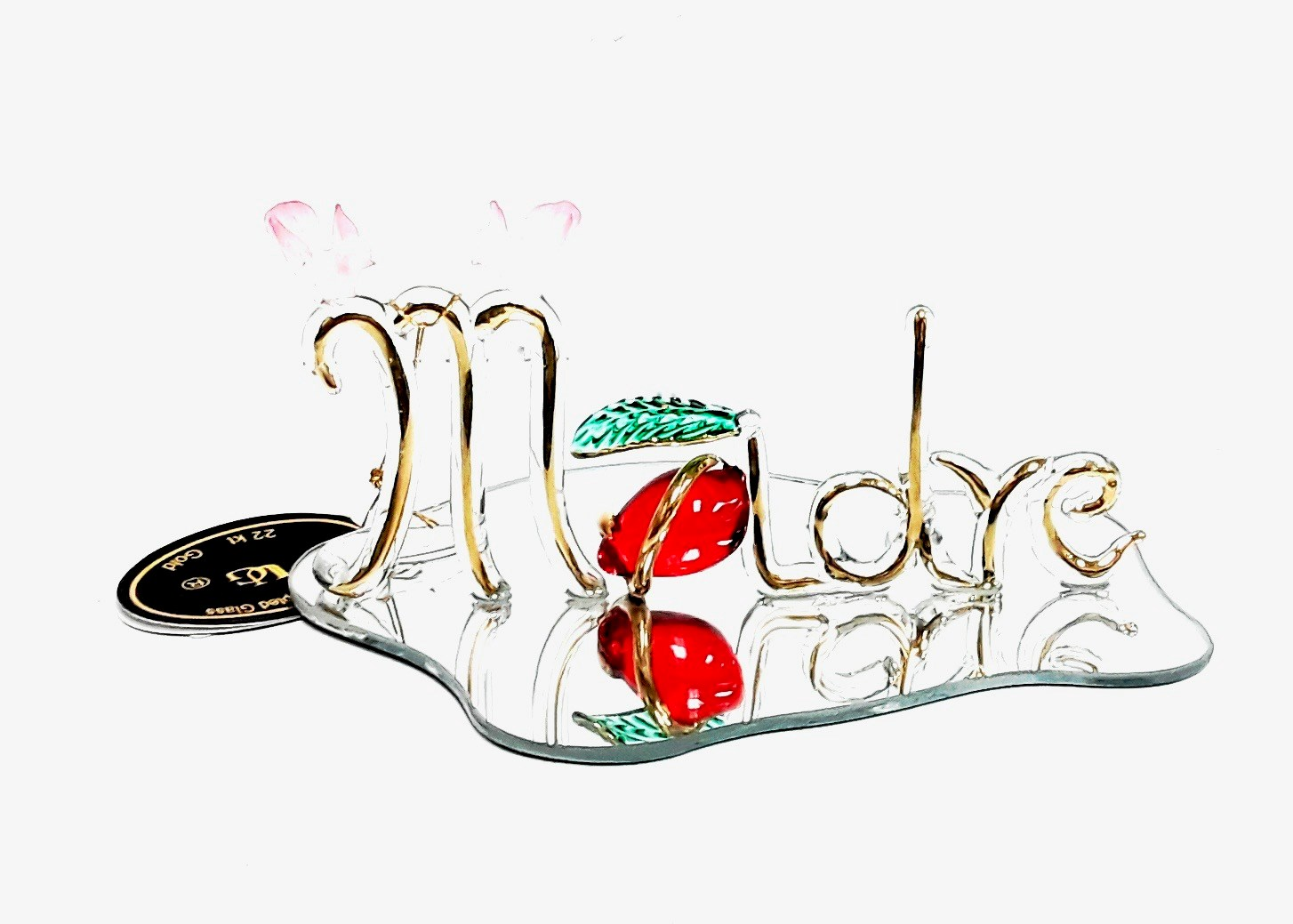 Glass Madre Sign Plaque