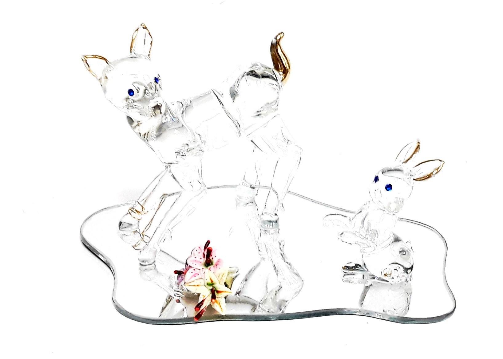 """3"""" H Deer & Bunny Plaque"""