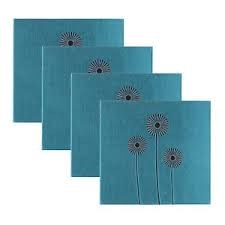 Crazy Daisy Embroidered 12x12 Scrapbook Teal