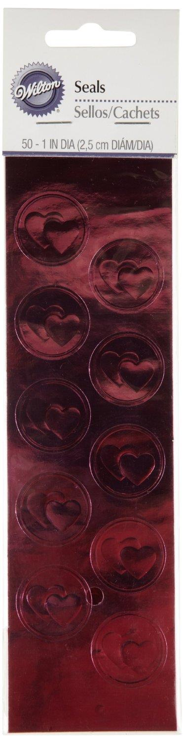 Pink Heart Seal 50 Ct