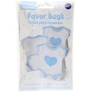 Favor Bag Romper Blue 10 Ct