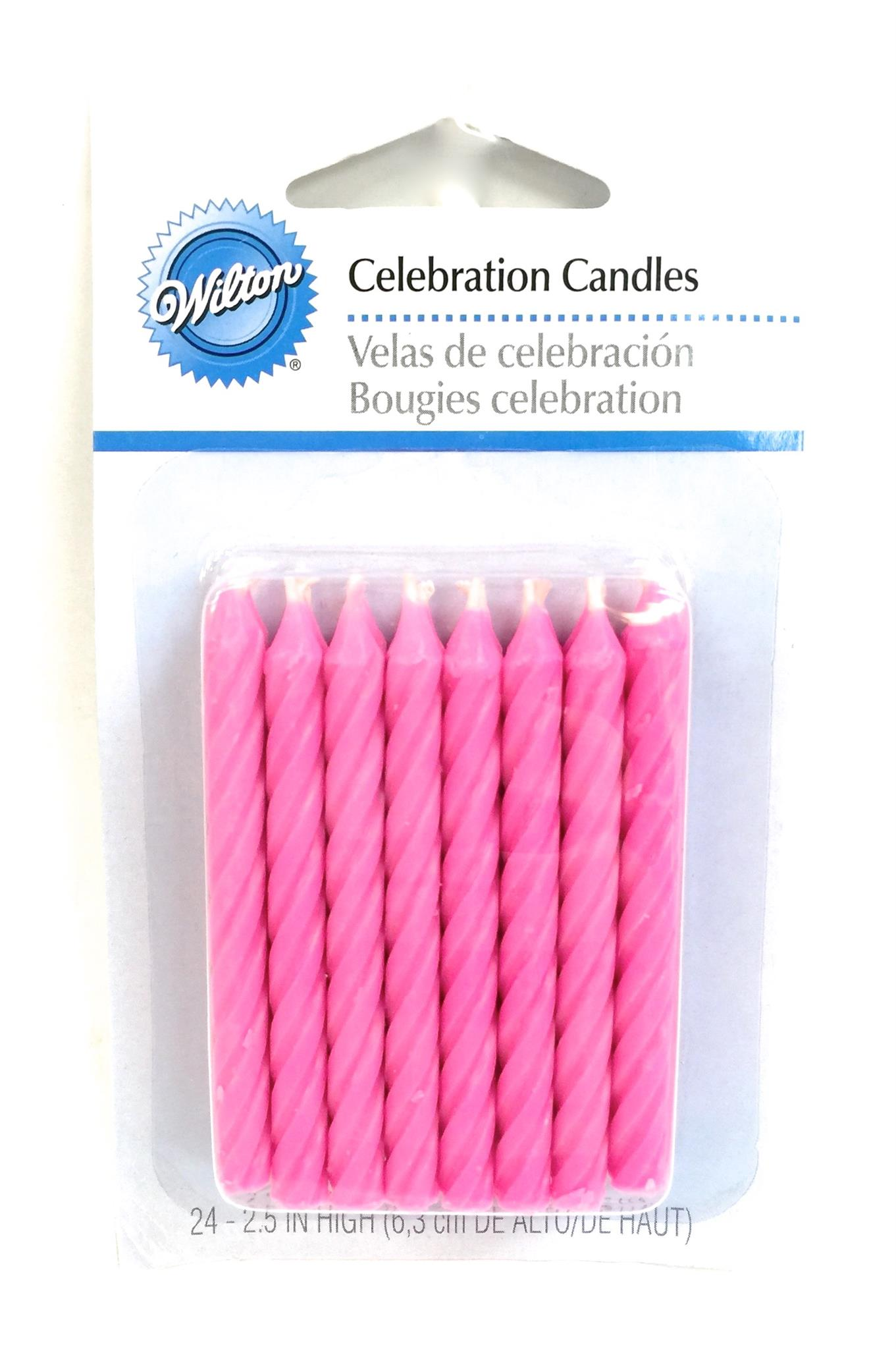 Pink Celebration Candles 24 Ct