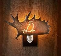 Owl Antler Night Light