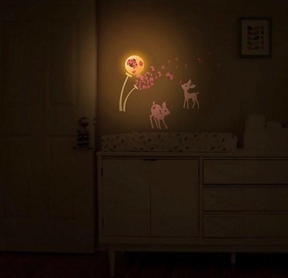 Cordless Wall Décor Light - Fawn and Ladybug