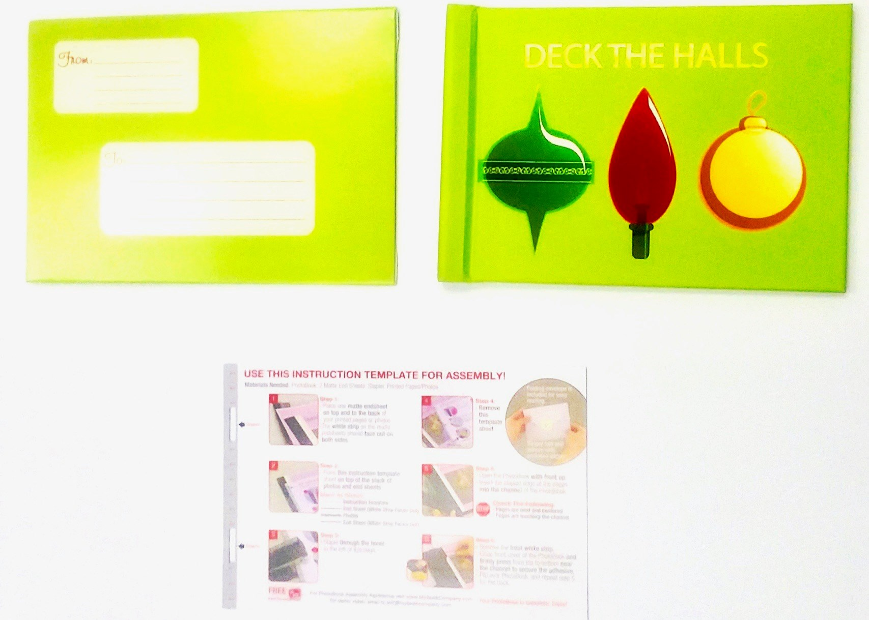Photobook Mailer - Deck The Halls Ornaments